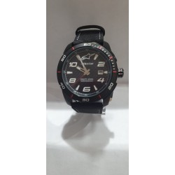 RELOJ ALPINESTARS CHRONO BLACK-RED LEATHER STRAP BLACK/RED