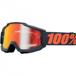GAFAS 100% ACCURI MATTE GUNMETAL MIRROR RED
